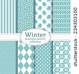 set of winter backgrounds.... | Shutterstock .eps vector #234303100