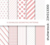 10 seamless patterns. stylish...   Shutterstock .eps vector #234313300