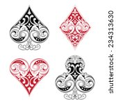 Black And Red Playing Card...