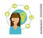 travel agent design   vector... | Shutterstock .eps vector #234315430