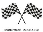 checkered flag racing | Shutterstock . vector #234315610