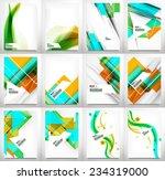 flyer  brochure design template ... | Shutterstock . vector #234319000