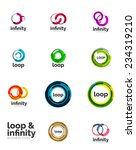 set of infinity and loop...   Shutterstock .eps vector #234319210