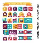 valentines day sale banner flat ... | Shutterstock .eps vector #234325000