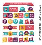 valentines day sale banner flat ...   Shutterstock .eps vector #234325123