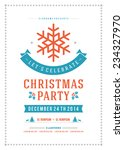 christmas party invitation... | Shutterstock .eps vector #234327970