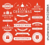 christmas decoration vector... | Shutterstock .eps vector #234328864