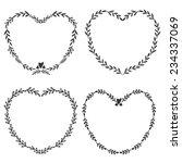 set of four hand drawn frames...   Shutterstock .eps vector #234337069