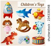 set of kid's toys. part 2.... | Shutterstock .eps vector #234338548
