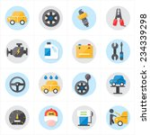flat icons for car service... | Shutterstock .eps vector #234339298