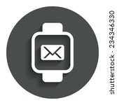 smart watch sign icon. wrist...
