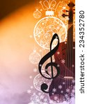 advent or christmas music... | Shutterstock . vector #234352780
