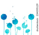 watercolor dandelion background | Shutterstock .eps vector #234355129