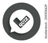 quiz check in speech bubble...