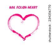 nail polish drawing vector... | Shutterstock .eps vector #234356770