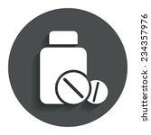medical tablets bottle sign...