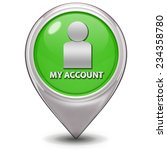 my account pointer icon on... | Shutterstock . vector #234358780