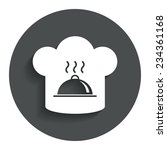 chef hat sign icon. cooking...