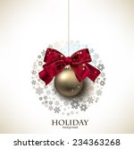 christmas ball made from... | Shutterstock .eps vector #234363268