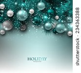 blue christmas background with... | Shutterstock .eps vector #234363388