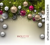 christmas background with balls.... | Shutterstock .eps vector #234363394