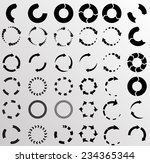 set of vector circular arrows .  | Shutterstock .eps vector #234365344