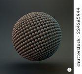 sphere. 3d vector template....