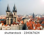 view of the tyn church in...   Shutterstock . vector #234367624