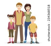 father and mother  son and... | Shutterstock .eps vector #234368518