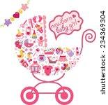 ute newborn icons set for... | Shutterstock .eps vector #234369304