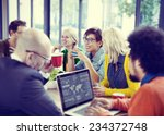 business people meeting seminar ... | Shutterstock . vector #234372748