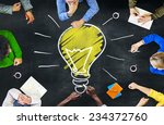 ideas thoughts knowledge... | Shutterstock . vector #234372760