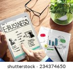 e business technology concept | Shutterstock . vector #234374650