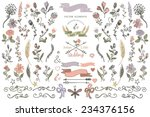 colored  doodles flower... | Shutterstock .eps vector #234376156