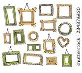 set of vector frames in graphic ... | Shutterstock .eps vector #234376630