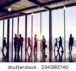 group of business people in... | Shutterstock . vector #234380740