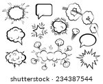 vector comic boom or blast... | Shutterstock .eps vector #234387544