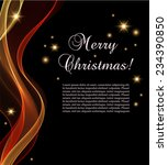 black christmas card with... | Shutterstock .eps vector #234390850