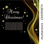 black christmas card with... | Shutterstock .eps vector #234390874