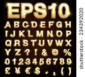 vector set of metallic letters... | Shutterstock .eps vector #234392020