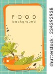 food background with vegetables ... | Shutterstock .eps vector #234392938