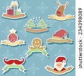 christmas background and... | Shutterstock .eps vector #234398089