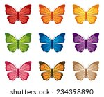 nine individually grouped... | Shutterstock .eps vector #234398890