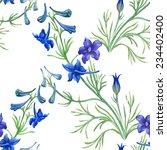 blue watercolor wildflowers... | Shutterstock .eps vector #234402400