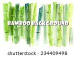 bamboo background. spa... | Shutterstock .eps vector #234409498
