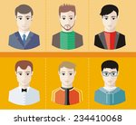 set of stylish young man... | Shutterstock .eps vector #234410068