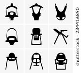 baby walkers and chairs   Shutterstock .eps vector #234416890