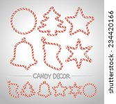 Christmas Candy Cane Frames Or...
