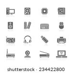 computer parts icons | Shutterstock .eps vector #234422800