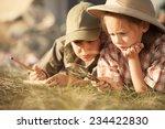 little researchers   boy and...   Shutterstock . vector #234422830